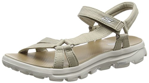 SkechersGo Walk Move River Walk - Sandali Donna , Beige (Beige (Naturel)), 41