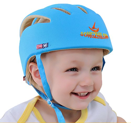 E Support Infant Baby Adjustable Safety Helmet Headguard Protective Harnesses Hat Blue (Baby Protection Helmet compare prices)