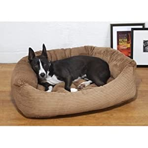 Slumber Jax® Large Bolster Premium Corduroy Dog Bed