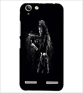 PrintDhaba Beauty with Weapon D-2440 Back Case Cover for LENOVO VIBE K5 PLUS (Multi-Coloured)