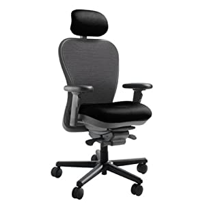 Mesh Back CXO Heavy Duty Big and Tall Office Chair Fabric: Mystic gray, Headrest: Included