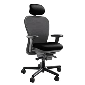 Mesh Back CXO Heavy Duty Big and Tall Office Chair Fabric: Mystic black, Headrest: Included