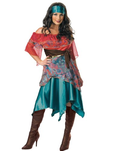 Peasant Woman Costume Bohemian French Gypsy Dress Womens Theatrical Costume