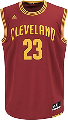 Lebron James Cleveland Cavaliers NBA Adidas Men's Replica Jersey - Burgundy