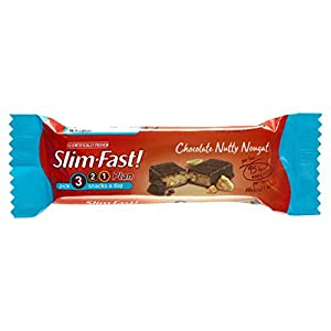 Amazon.com: Slim Fast Snack Bar Chocolate Nutty Nougat 25g - Pack of