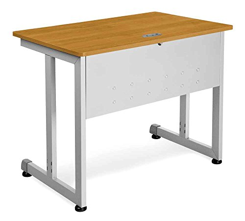Modular-Computer-Table-w-Privacy-Panel-Front-Cherr