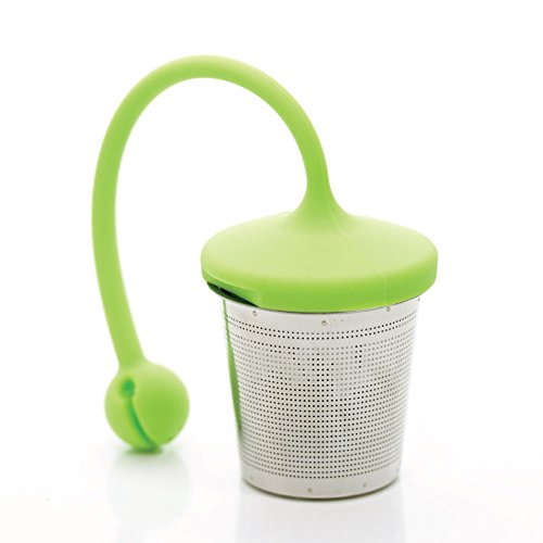 Best Price! leafTEA Loose Leaf Tea Strainer : Tea Infuser : Tea Steeper : Tea Basket in Stainless St...