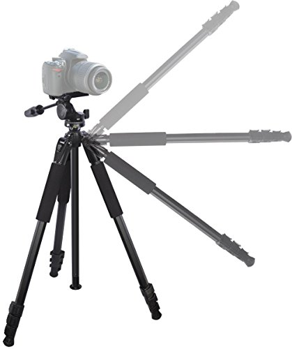 Details for 80 inch Heavy Duty Portable tripod for Nikon D7200, D7100, D5500, D5300, D3000, D3100, D3200, D3300, D5000, D5100, D5200, D7000 Digital SLR Cameras: Travel tripod