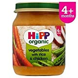 HiPP Organic Vegetables with Rice & Chicken 4+ Mths 125G