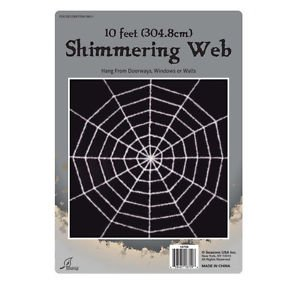 10ft Shimmering White Spider Web Halloween Horror Outdoor Party Decoration