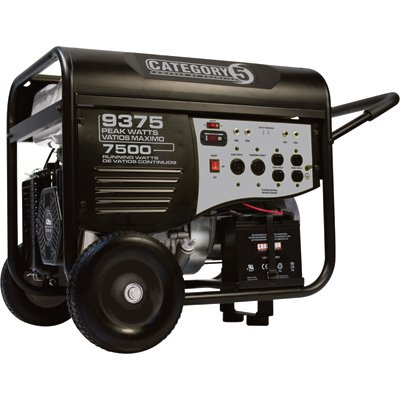Category 5 Electric Start Generator - 9375 Watts, Wireless Remote Control, Model# 41535 (Wireless Remote Start Generator compare prices)