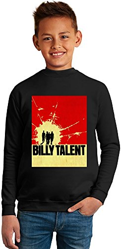 Billy Talent Superb Quality Boys Sweater by TRUE FANS APPAREL - 50% Cotton & 50% Polyester- Set-In Sleeves- Open End Yarn- Unisex for Boys and Girls 8-9 years