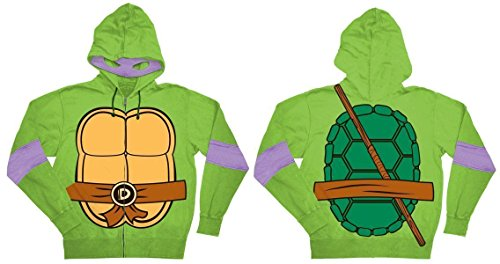 Ripple Junction Design Co. Men's Donatello TMNT Costume Hoodie