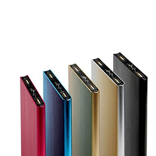 Thinny8800 モバイルバッテリー 大容量 8800mAh 充電器 ポータブル 薄型 軽量 2ポート USB 急速充電 iPhone Android au docomo softbank ipad 対応 (ゴールド)