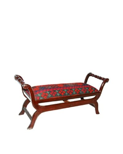 Dream Home Designs Swat Valley Kilim Bench, Assorted As You See