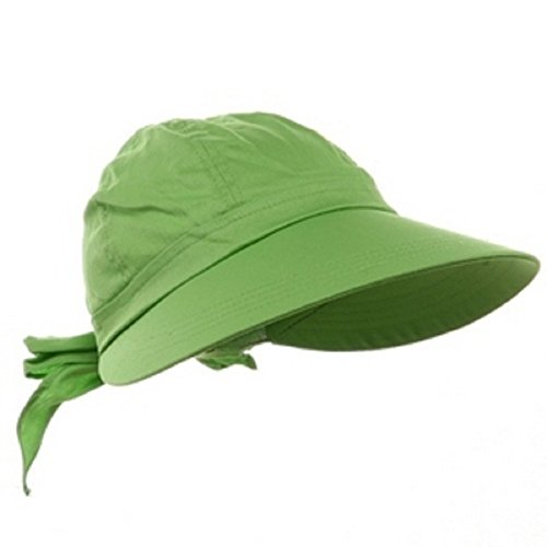 Lime Green Wide Brim Peak Gardening Sun Hat