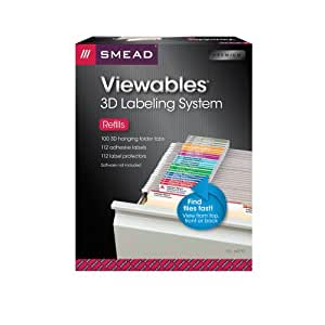 Smead Viewables® Labeling System, Refill Pack, Hanging Folder Labels, Ink-Jet and Laser Printers (64910)