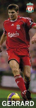 Liverpool- Steven Gerrard Sports Door Poster Print, 20x62
