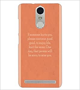 PrintDhaba Quote D-4969 Back Case Cover for LENOVO K5 NOTE (Multi-Coloured)