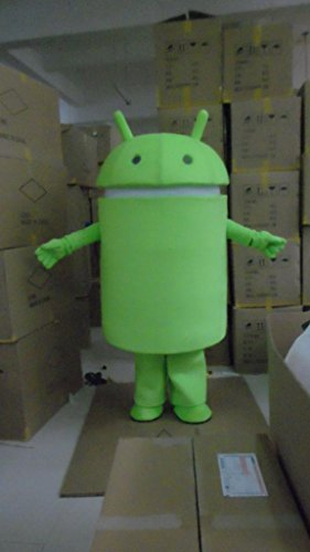 Android Robot Mascot Costume Cospaly Cartoon Character Adult Size