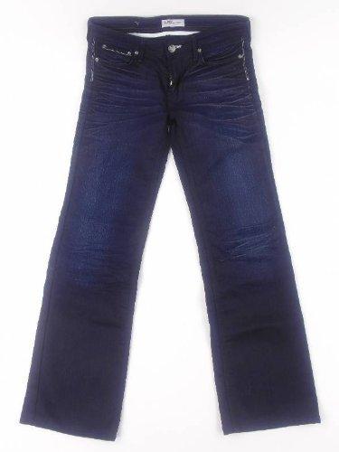 originale Lee Jeans Pantaloni Niki blu scuro 5 tasche chiusura lampo Rivetti decorativi - cotone, blu, 65% cotone 35% poliestere, Donna, 26