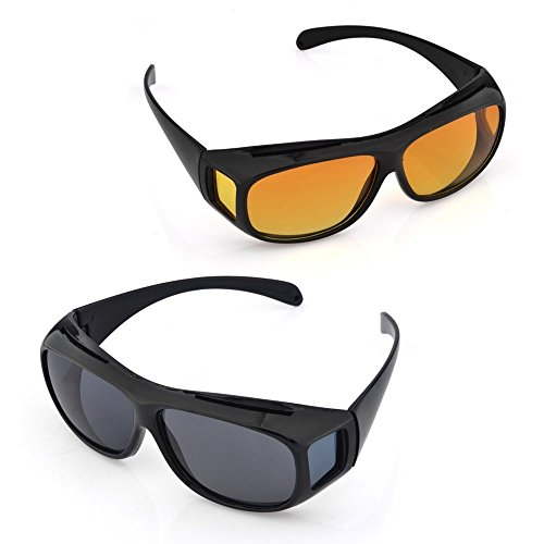 Diswa Day & Night HD Vision Goggles Anti-Glare Polarized Sunglasses Men/Women Driving Glasses Sun Glasses UV Protection car Drivers  available at amazon for Rs.290