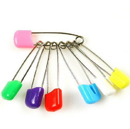 Yanseller 20Pcs Cloth Diaper Pins Stainless Steel Traditional Safety Pin - Assorted Color front-593336