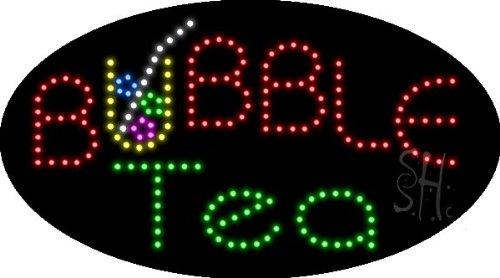 "Bubble Tea Animated Led Sign 15"" Tall X 27"" Wide X 1"" Deep"