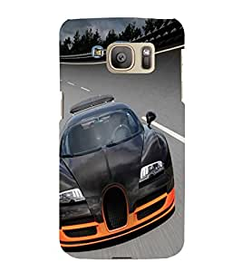 printtech Superfast Car Back Case Cover for Samsung Galaxy S7 / Samsung Galaxy S7 Duos with dual-SIM card slots