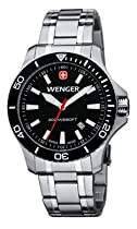 Wenger Sea Force Watch, Black Dial Black Bezel Bracelet 641.105