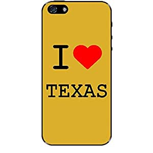 Skin4gadgets I love Texas Colour - White Phone Skin for IPHONE 5