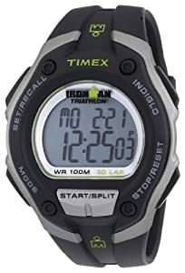 Timex Men's T5K412 Ironman Traditional 30-Lap Oversize Black Resin Strap Watch