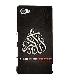 Allah 3D Hard Polycarbonate Designer Back Case Cover for Sony Xperia Z5 Premium :: Sony Xperia Z5 Premium Dual