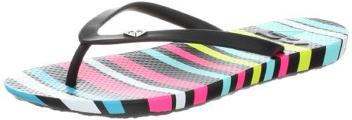 Roxy Women's Cabana II Flip Flop,Black/White/Black,9 B US