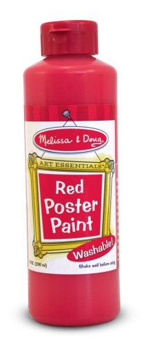 Melissa and Doug Poster Paint Color: Red