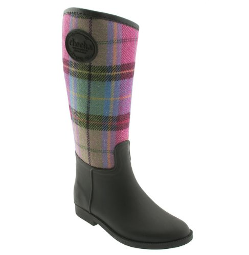 Women's FAB PLAID Rain Boots by CHOOKA - 7 PLAID