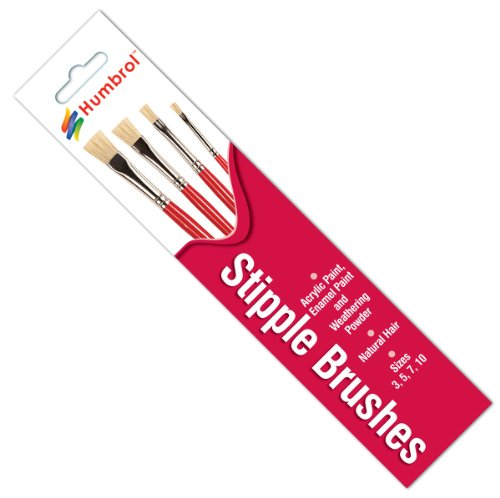 Airfix Stipple Natural Hair Brush Pack