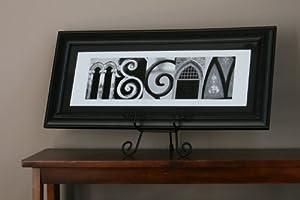 "Custom Alphabet Art Photograph Print 8""x20"" Matted and Framed"