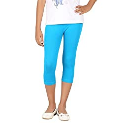 BELONAS Girl's Turquoise Blue Capris