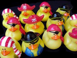 One Dozen (12) Mini Pirate Rubber Ducks Duckie Ducky Party Favors