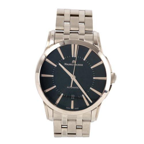 Maurice Lacroix  Pontos Date - Reloj de automático para hombre, con correa de acero inoxidable, color plateado
