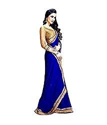 KD Enterprise Fabuloue Blue Colour Saree for Women