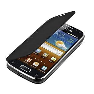 Étui de protection à rabat pratique et chic pour Samsung Galaxy Ace 2 i8160 en Noir de la marque kwmobile