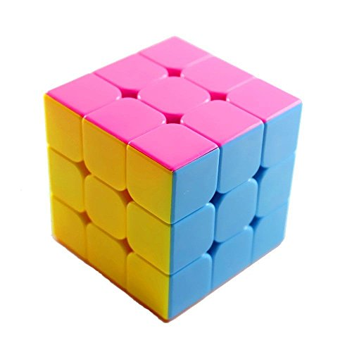MoYu YJ Stickerless Yulong Plus 3x3x3 Speed Cube Puzzle, Small, High Bright Pink - 1