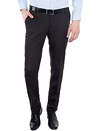 Only Vimal Men's Brown Slim Fit Formal Trouser