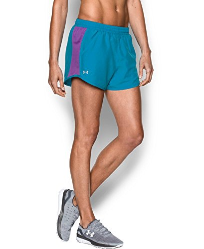 Under Armour Women's Fly-By Run Short, Aqua Blue (909), X-Small