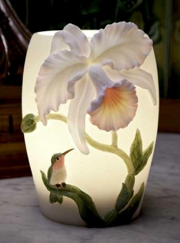 Hummingbird and Cattleya Orchid Night Lamp