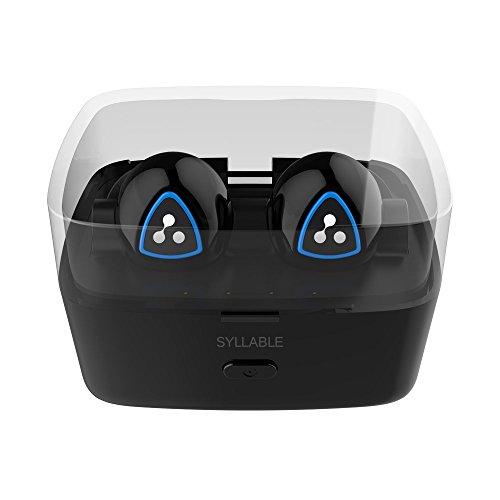 Syllable® D900S Mini Auricolare Bluetooth 4.1 Senza fili Auricolari In Ear Cuffie con Microfono con la scatola di ricarica intelligente per Iphone 5s/6/6s, Samsung , Tablet e altri smartphone (Nero)