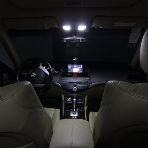 Partsam honda accord 2013 2014 2015 2016 white interior led lights package kit 6 pieces for 2014 honda accord interior lights