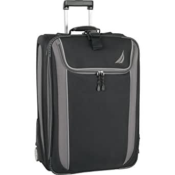 Nautica Luggage Spinnaker 21 Inch Expandable Upright Bag, Black/Grey, One Size